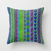 greece Throw Pillows featuring Greece by Kimberly McGuiness