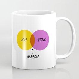The Venn of Improv (Yellow/Violet) Coffee Mug