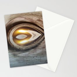 Lighted Water Tunnel Abstract Stationery Cards