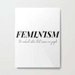 feminism Metal Print