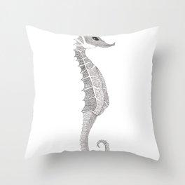 swirly bellied sea dragon Throw Pillow