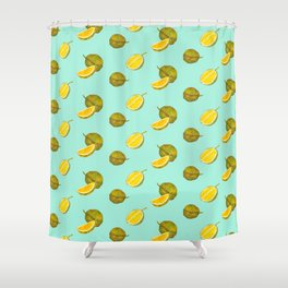 Durian II - Singapore Tropical Fruits Series Shower Curtain