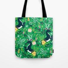 Festive Deer Tote Bag