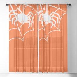 Trick or treat series Sheer Curtain