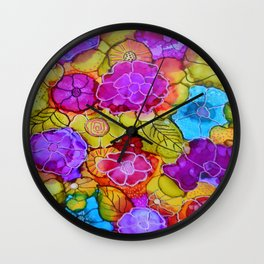 The Jessica - Flowers Wall Clock