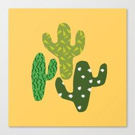 Cactus (Minimal) Canvas Print