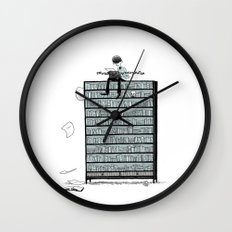 LITTLE DREAMS, BIG BOOKCASE Wall Clock