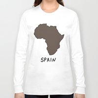 spain Long Sleeve T-shirts featuring Spain by Roman Jones