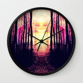 Path to Imagination : Mauve Pink Purple Wall Clock