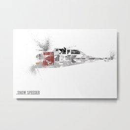 Star Wars Vehicle Snow Speeder Metal Print