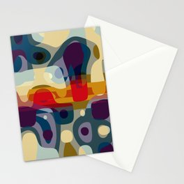coming closer with our eyes, a distance forms around our bodies Stationery Cards