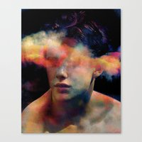 tchmo Canvas Prints featuring Untitled 20121008r (Brad) by tchmo