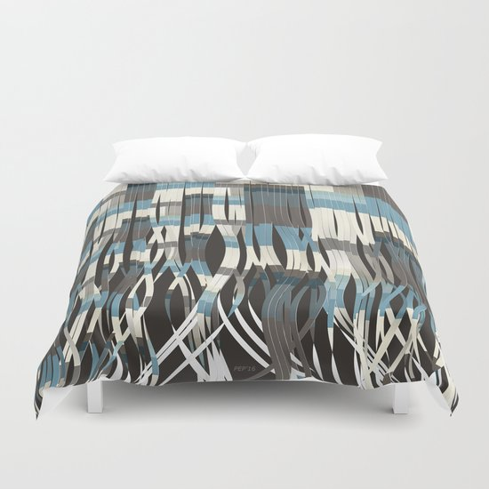 Abstract Graphic Ribbons Duvet Cover