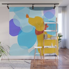 Yellow Labrador Dog Wall Mural