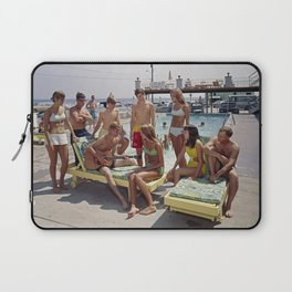 1960's teenagers playing guitar and singing by the Gondolier Motel pool, Wildwood, NJ Laptop Sleeve