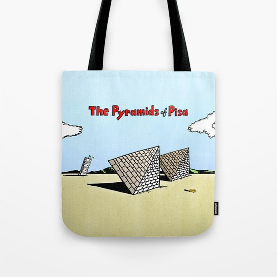 The Pyramids of Pisa Tote Bag
