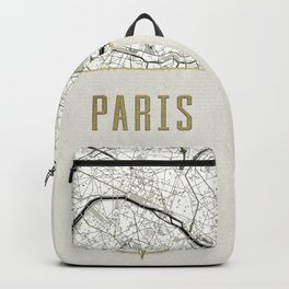 Paris - Vintage Map and Location Backpack