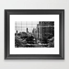 Columbus Circle  Framed Art Print