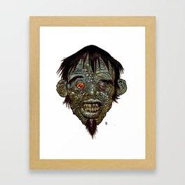 Heads of the Living Dead Zombies: Beatnik Zombie Framed Art Print