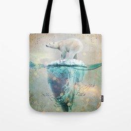 Polar Bear Adrift Tote Bag