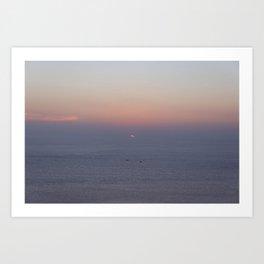 Sailing Through Sunset Art Print