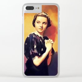 Jane Wyatt, Vintage Actress Clear iPhone Case