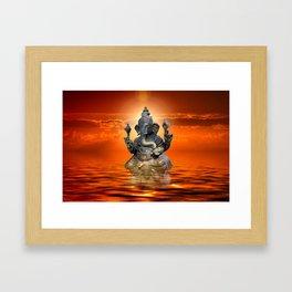 Elephant God Ganesha Framed Art Print
