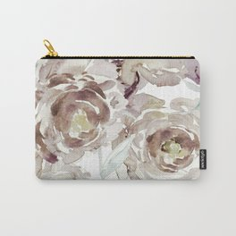 Earthy Painterly Floral Abstract Carry-All Pouch
