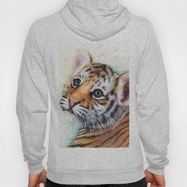 Nursery-Artwork-Tiger-Cub-Baby-Animal-Watercolor-Jungle-Safari-Animals Hoody