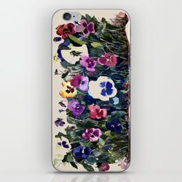 Pansies iPhone Skin