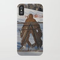outdoor iPhone & iPod Cases featuring Outdoor hockey rink by RMK Creative