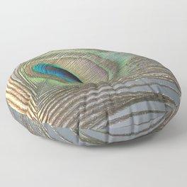 Peacock Feather No.1 | Feathers | Nadia Bonello | Ottawa | Canada Floor Pillow