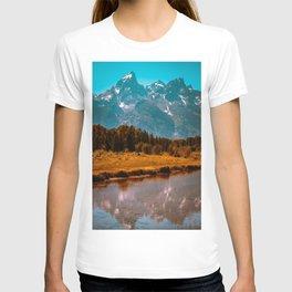 Grand Teton Mountains Tall Landscape Print T-shirt