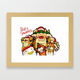 Merry Smashmas Framed Art Print