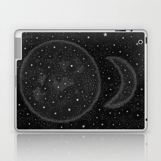 Starry Boho Moons Laptop & iPad Skin