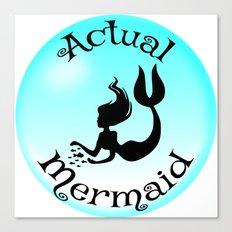 Actual Mermaid Canvas Print