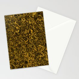 Fluid luxury golden and black overflowing Stationery Cards