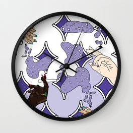 Cigs and Stars Wall Clock
