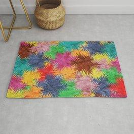 Tropical Fan Palm Paradise – Colorful #05 Rug