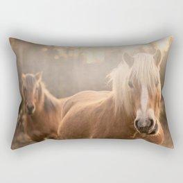 Horses v2 Rectangular Pillow