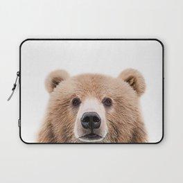 Brown Bear Print Laptop Sleeve