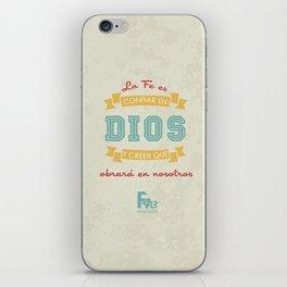 Confianza en Dios iPhone Skin