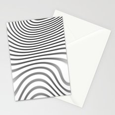 Organic Abstract 02 WHITE Stationery Cards