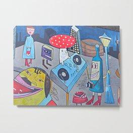 Eastside Gallery, Berlin art, DJ mushroom Metal Print