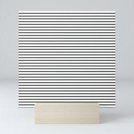 Black Painted Sailor Stripes on White Mini Art Print