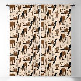 Electric Oasis - Black, Brown & Tan Blackout Curtain