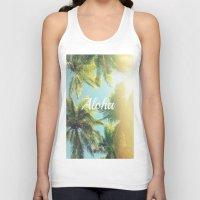 aloha Tank Tops featuring AloHa by ''CVogiatzi.
