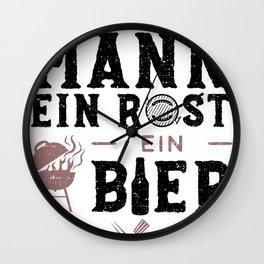 Ein Mann Ein Rost Ein Bier Wall Clock