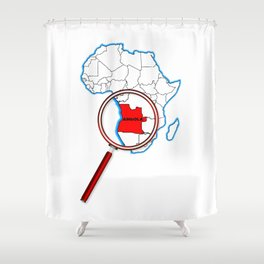 Angola Under The Magnifying Glass Shower Curtain