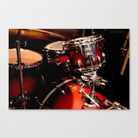 drums Canvas Prints featuring Drums  by Alice Mari